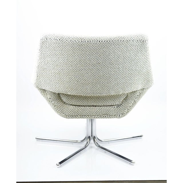 Mod Swivel Chair on Chrome Base-New Upholstery For Sale - Image 4 of 6