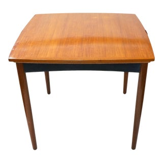 Danish Game Table With Leaves For Sale