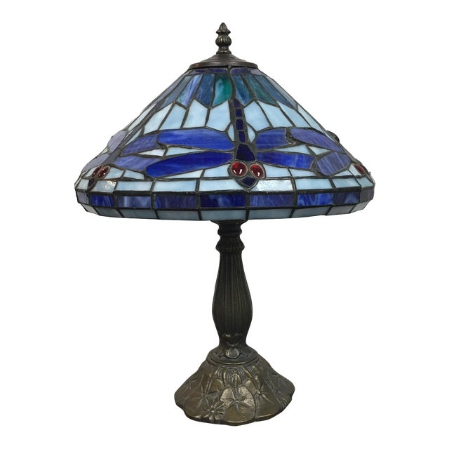Tiffany Style Dragonfly Motif Table Lamp - Image 1 of 7