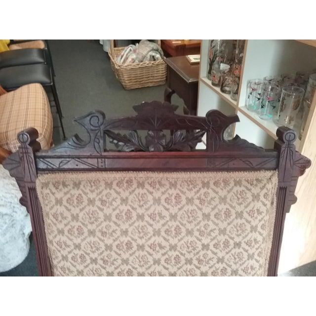 Eastlake Upholstered Victorian Wood Platform Rocking Chair For Sale In Philadelphia - Image 6 of 13