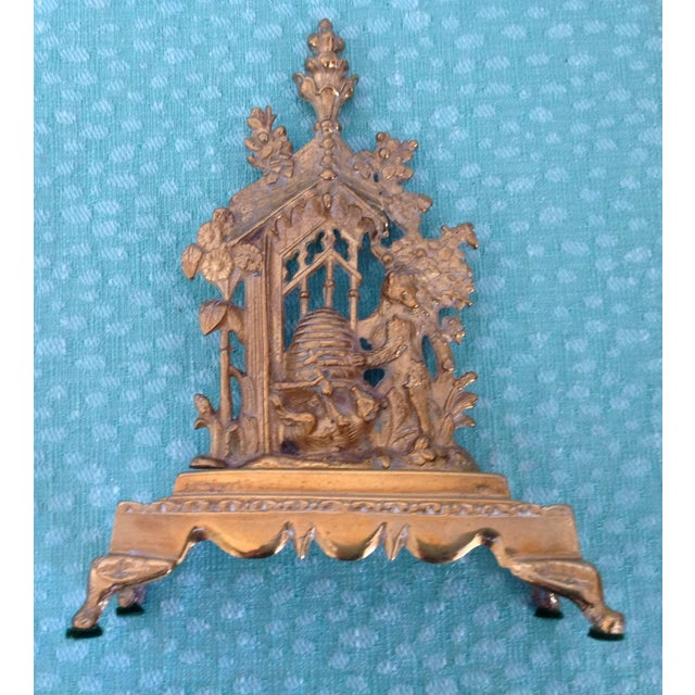 Late 20th Century Antique English Solid Brass Mantel Decoration For Sale - Image 5 of 5