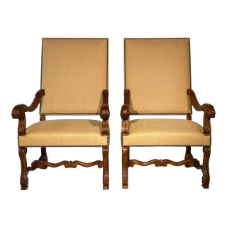 Alfonso Marina Spanish Side Chairs - a Pair For Sale