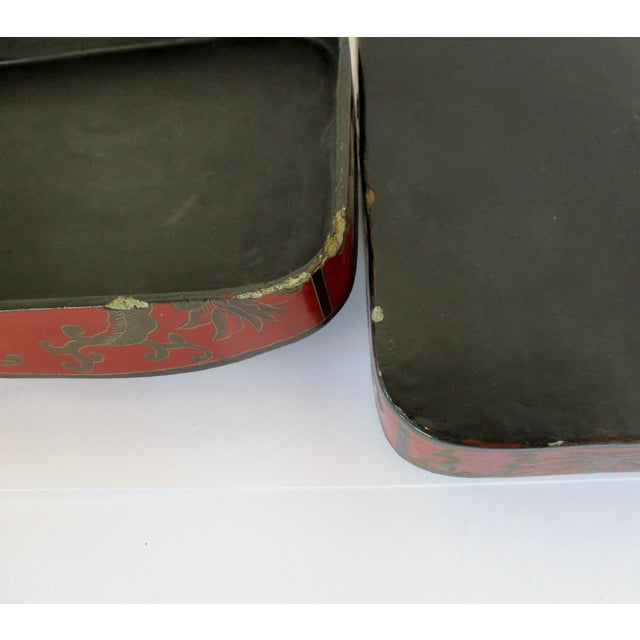 Vintage Chinese Lacquered Box For Sale - Image 9 of 10