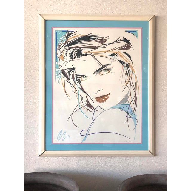 """Dennis Mukai Limited Edition Serigraph, """"Victoria"""" / """"Green Eyes"""" signed and numbered. Mukai was an artist and Playboy..."""