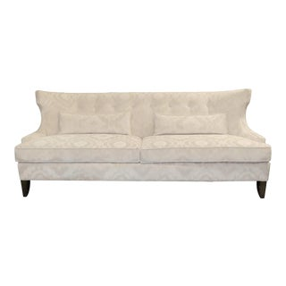 Contemporary Vanguard Button Back Winged Sofa For Sale