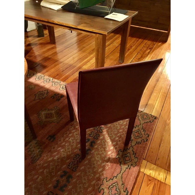 Crate & Barrel Modern Crate & Barrel Folio Leather Dining Chair For Sale - Image 4 of 5