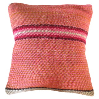 Peruvian Striped Pillow For Sale