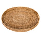 Image of Artifacts Rattan Oval Tray For Sale