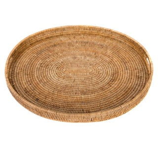 Artifacts Rattan Oval Tray For Sale