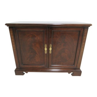 Modern Drexel Heritage Bombay Server Sideboard Console Liquor Cabinet Mahogany For Sale
