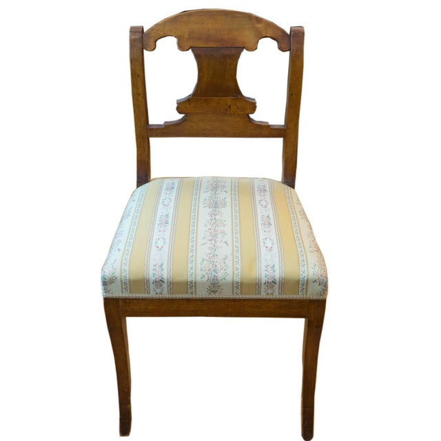 This elegant and sturdy side chair was crafted of solid birch during the reign of King Karl Johan, from whom the period...