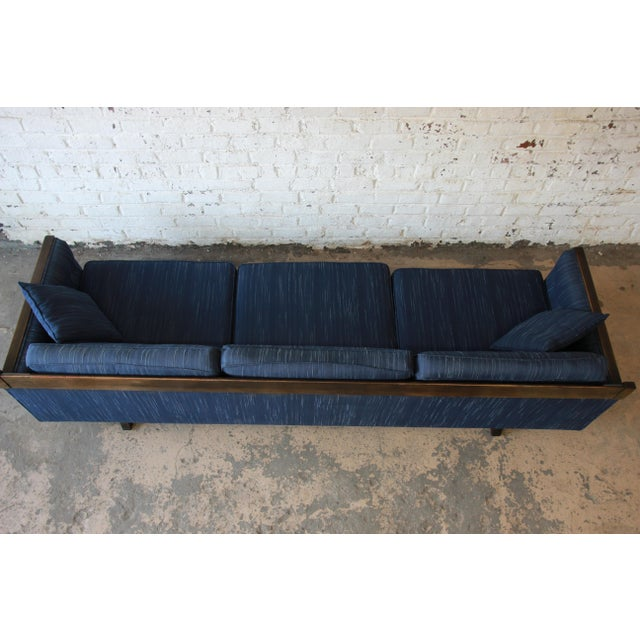 Blue Milo Baughman Style Mid-Century Modern Floating Sofa For Sale - Image 8 of 11