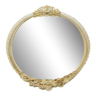 Floral Mirrored Vanity Tray For Sale