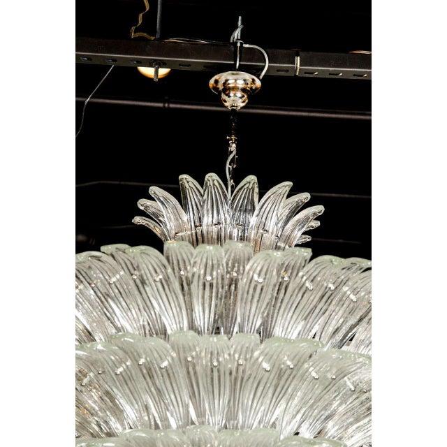 Exquisite Five-Tier Palma Murano Glass Chandelier - Image 8 of 9