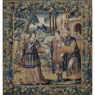 17th Century Antique Tapestry - St. Raphael & Tobias For Sale
