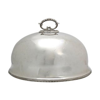 Antique English Silver-Plate Meat Dome