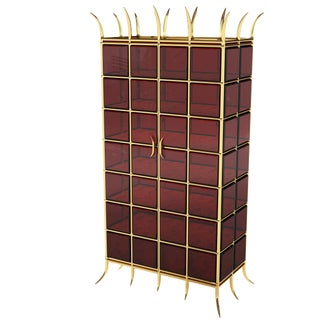 Crown Jewel Cabinet by Artist Troy Smith - 100% Custom Made Contemporary Cabinet For Sale
