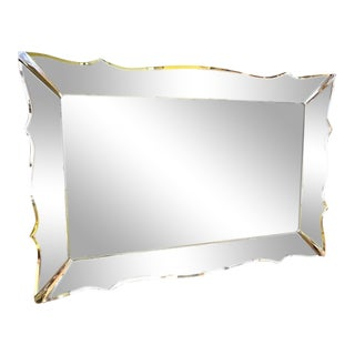 Beveled Etched Frame Wall Mirror