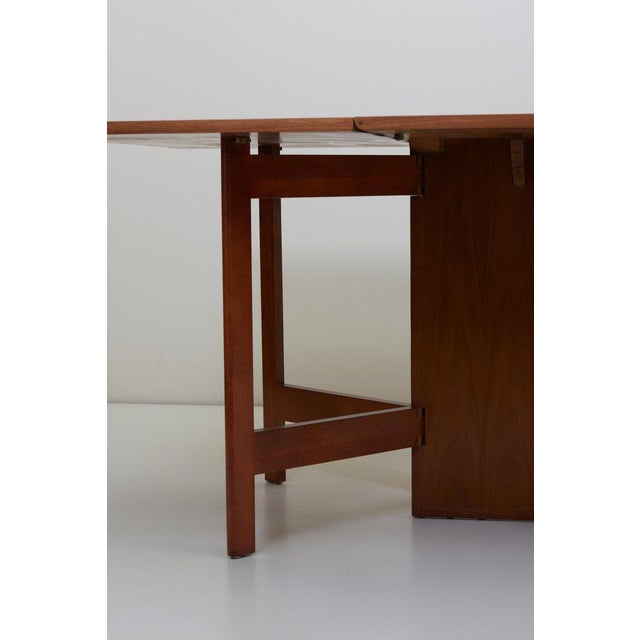 Walnut George Nelson Gate-Leg Dining Table Model 4656 by Herman Miller in Walnut For Sale - Image 7 of 13