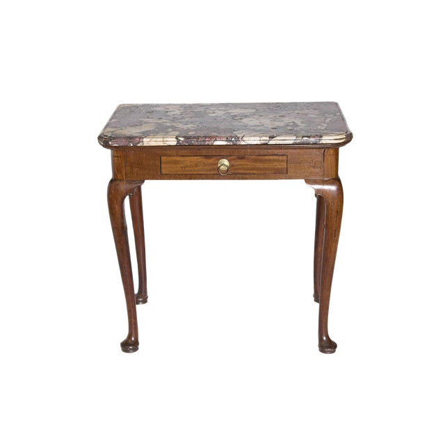 Early 18th Century Queen Anne Mahogany Side Table For Sale