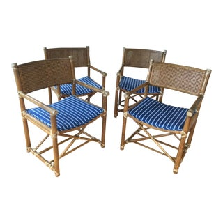 Modern McGuire Bamboo and Cane Chairs- Set of 4 For Sale