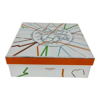 Heavy Silver Cardboard Gift Box by Hermès For Sale