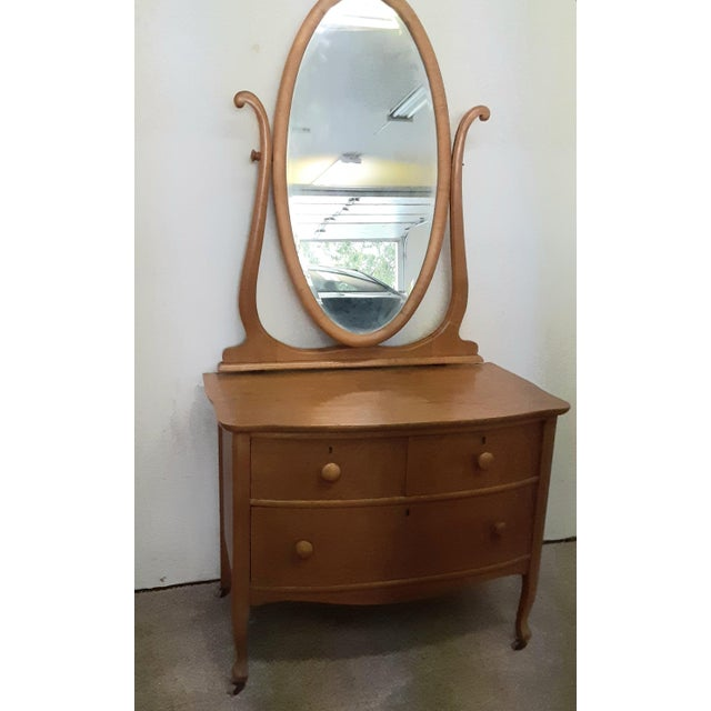 Early 20th Century Early 20th Century Maple Vanity Dresser For Sale - Image 5 of 8