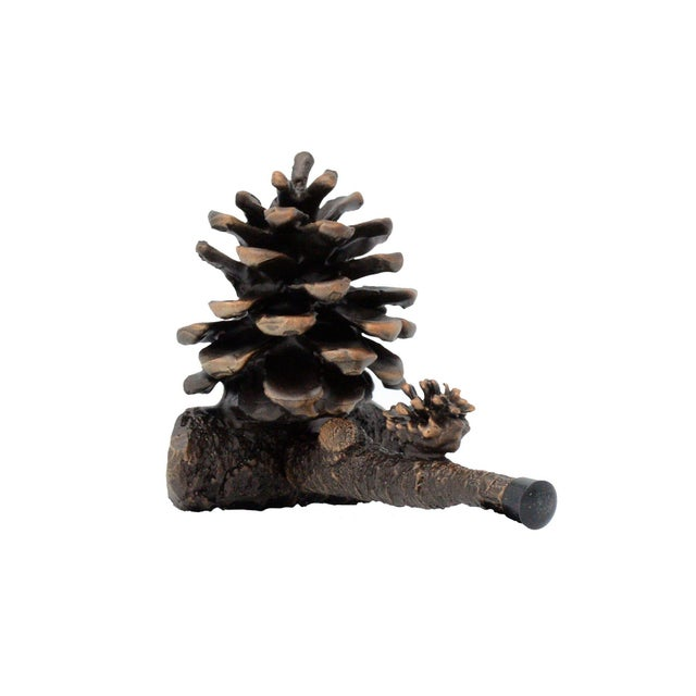 Black Forest Ponderosa Small Door Stop, Traditional Patina For Sale - Image 3 of 3