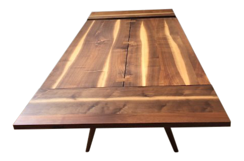 1970s Mid Century Modern George Nakashima Conoid Walnut Dining Table