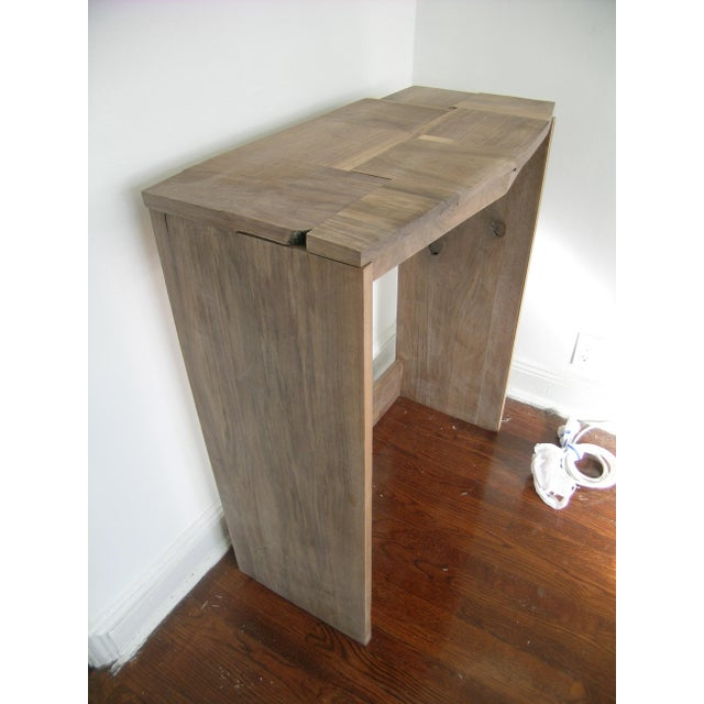 Contemporary Fashion Inspired Walnut Console Table For Sale In New York - Image 6 of 9