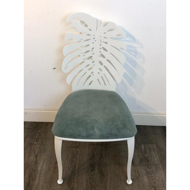 Mid 20th Century Six 1970s Wrought Iron Palmette Chairs, Restored For Sale - Image 5 of 10