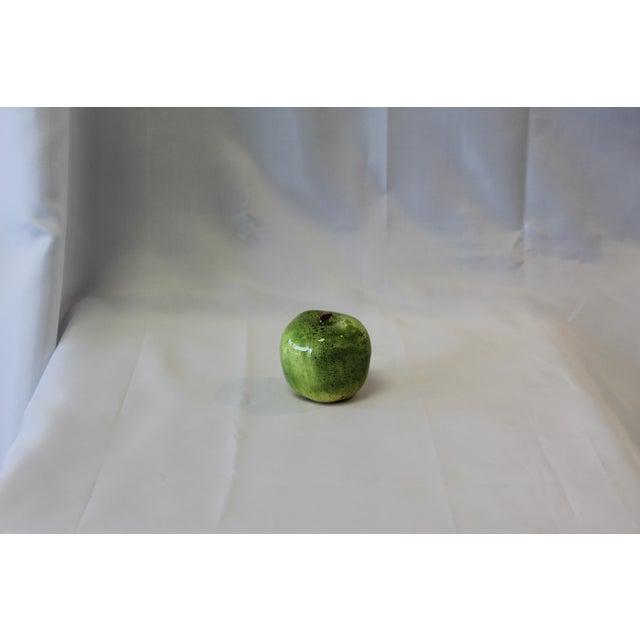 Italian Italian Ceramic Green Apple For Sale - Image 3 of 5