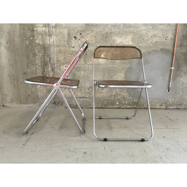 Plia Folding Chairs by Giancarlo Piretti - A Pair - Image 5 of 11