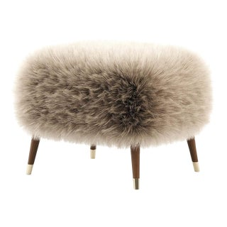 Beige Asti Low Stool For Sale