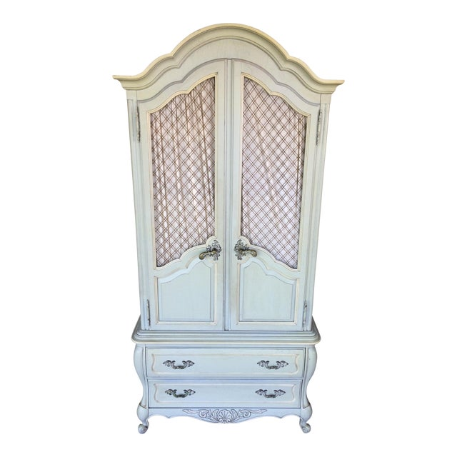 Hickory White French Provincial Armoire For Sale