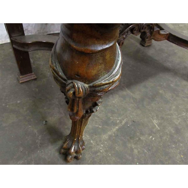 Bear Claw Wooden Console Table For Sale - Image 5 of 10