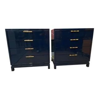 Blue Vintage Mid-Century Dressers - a Pair For Sale