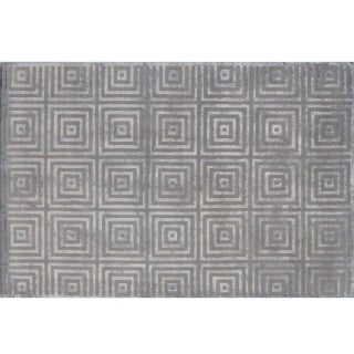 Stark Studio Rugs Contemporary New Oriental Tibetan Wool Rug - 6′1″ × 9′4″