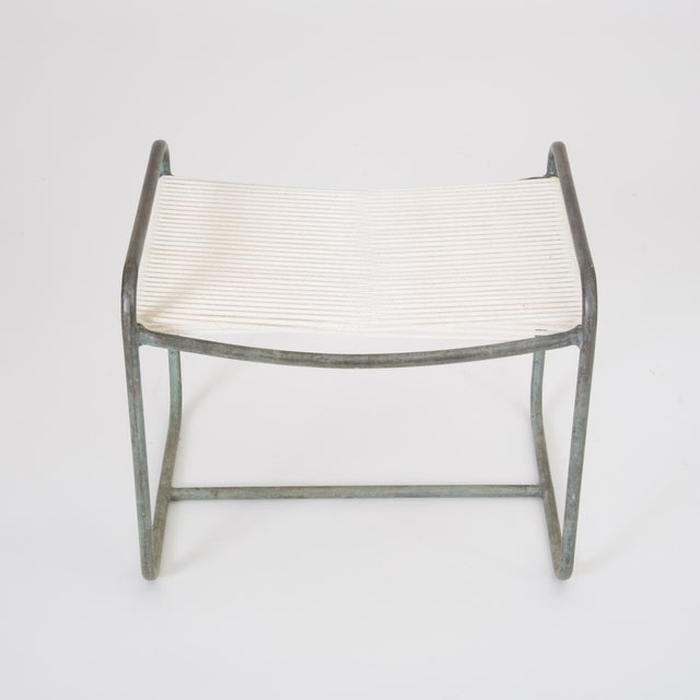 Single Walter Lamb Patio Lounge Chair and Ottoman Set For Sale - Image 11 of 13