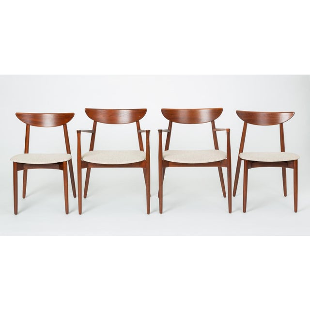 Set of Four Dining Chairs by Harry Østergaard for Randers Møbelfabrik For Sale - Image 12 of 13