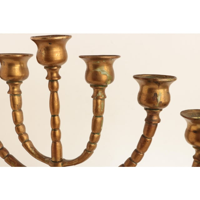Quality solid brass candleholder with a warm golden finish and timeless, classic form.