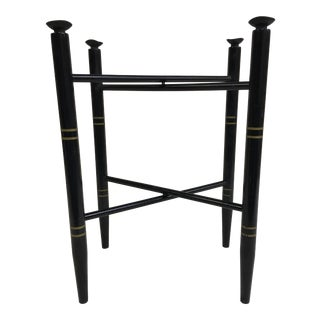 Vintage Black and Gold Folding Tray Table Base For Sale