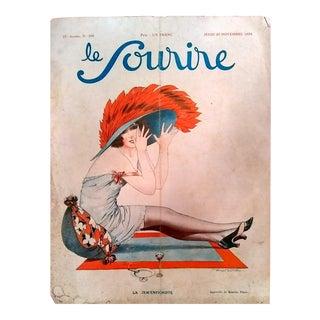 """Maurice Pepin 1924 """"La Jem'enfichiste"""" Le Sourire Print"""
