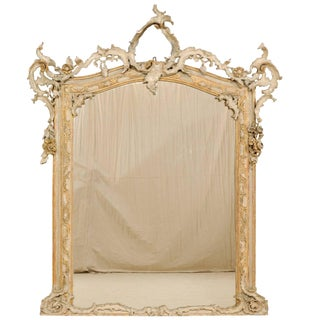 Magnificent Italian 19th Century Grand Scale Baroque Style Carved Wood Mirror For Sale