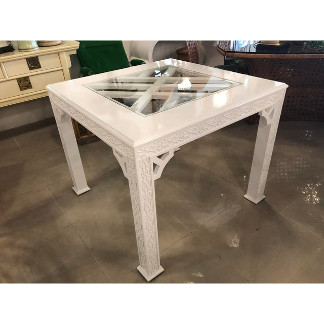 Chinese Chippendale Lacquered Game Dining Table For Sale In West Palm - Image 6 of 10