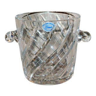 Late 20th Century Badash Lead Crystal Ice Bucket For Sale