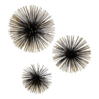 Mid Century Atomic Needle Wall Sculptures - Set of 3 For Sale