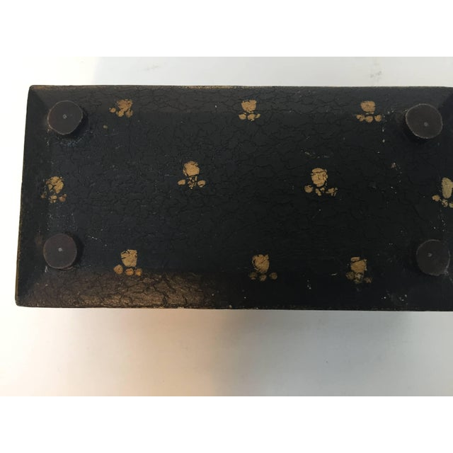 Gold Rajhastani Hand-Painted Decorative Footed Tea Box For Sale - Image 7 of 10