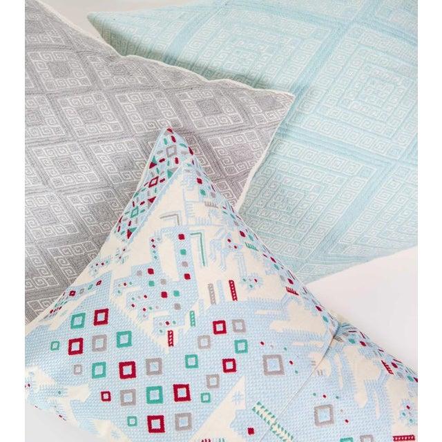 Serenity Blue Handwoven Guatemalan Pillow - Image 7 of 7