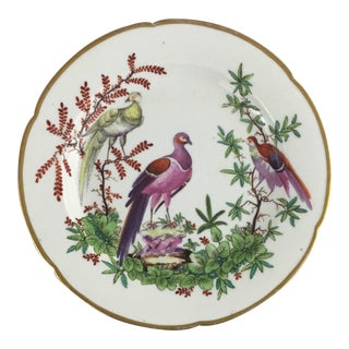 Late 18th Century Antique French Fabrique De La Courtille Decorative Porcelain Plate For Sale